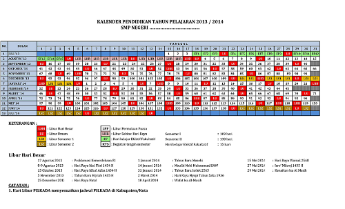Download Di Sini : KALENDER PENDIDIKAN 2013-2014