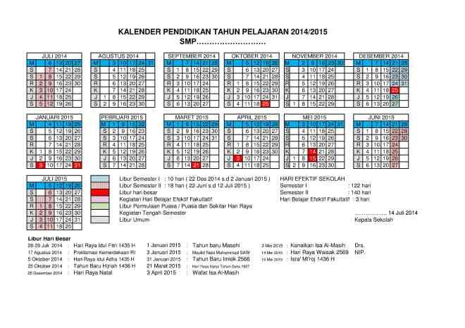 KALENDER PENDIDIKAN 2014- 2015( Blog)5