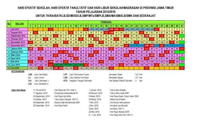 Kalender Pendidikan 2015-2016 Jawa Timur pdf1