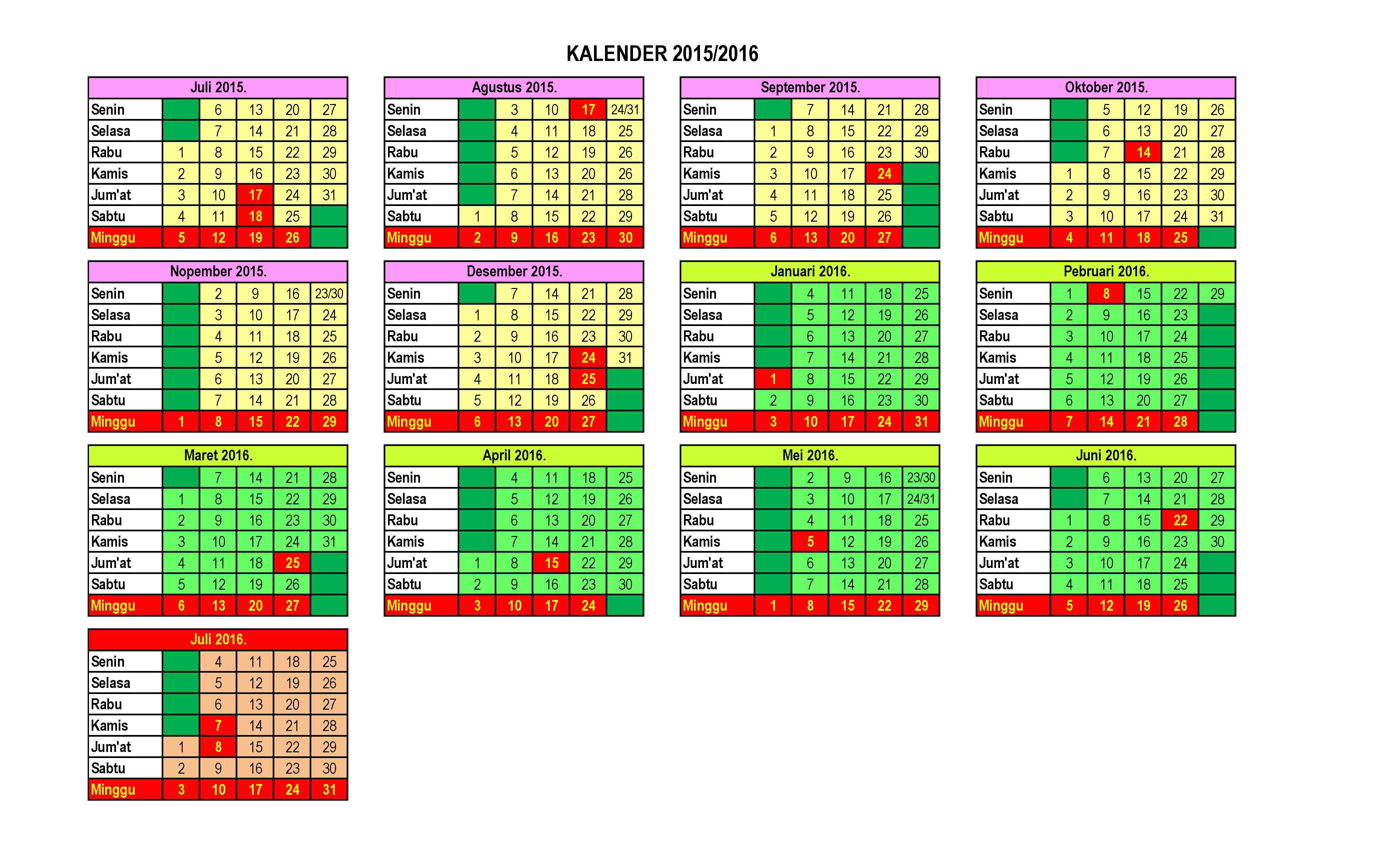 Kalender Pendidikan Prota Promes Bimbingan Dan Konseling | Share The ...