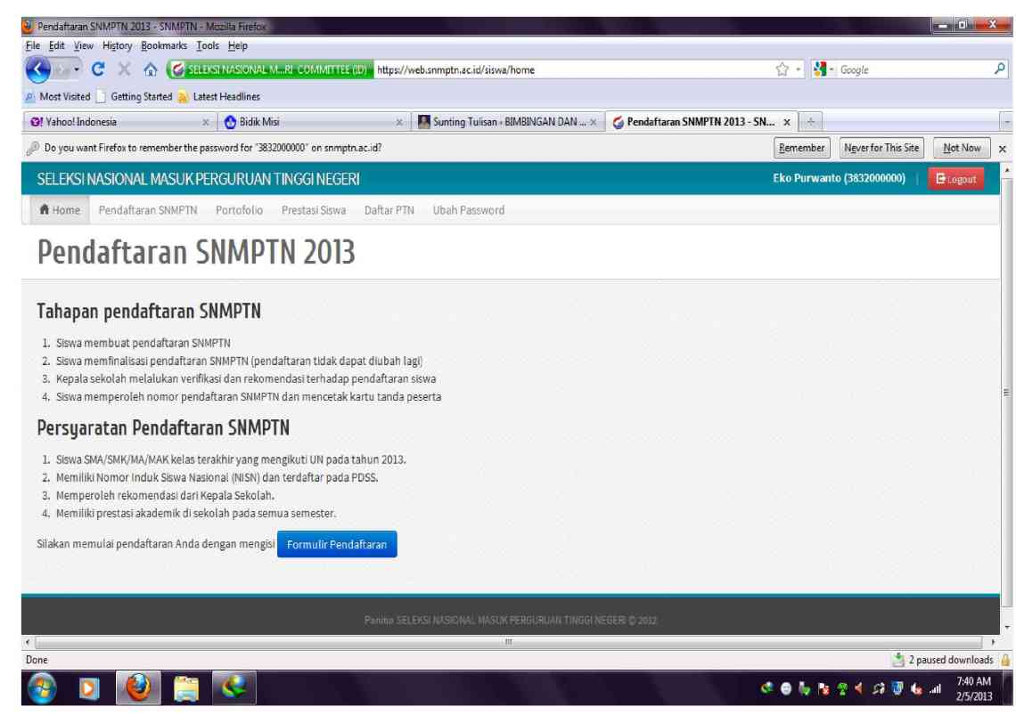 Image Result For Https Pdss Snmptn Ac Id Siswa